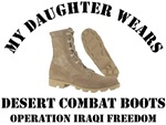 MY DAUGHTER WEARS DESERT COMBAT BOOTS