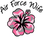 Air Force Wife Pink Camoflage Flower