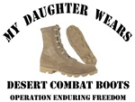 My Daughter wears Desert Combat Boots OEF