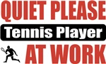 Quiet Please Tennis Player At Work