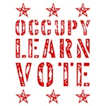 occupy learn vote red