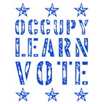 occupy learn vote blue