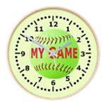 Softball Wall Clocks
