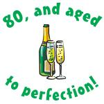 80, Aged To Perfection Gifts