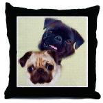 Pug Art Throw Pillows