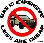 Gas is Expensive-No SUVs t-shirts