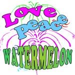 Love Peace Watermelon