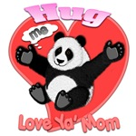 Hug me Fury panda Love ya' Mom 3D