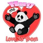 Hug me Fury panda Love ya' Mom 3D