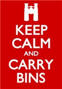 Keep Calm & Carry Bins