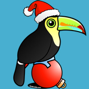 Cute Toucan Santa Apparel & Gifts
