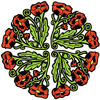 Ukrainian Poppy Art Design