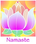 Bejeweled Lotus Flower Namaste Greeting