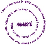 Namaste Meaning in Sacred Purple