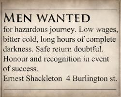 Shackleton Ad - Magnets, Stickers, Bags, Posters e