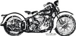 Harley 1936 64cubic motorcycle