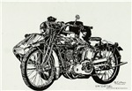 1916 Indian Powerplus Motorcycle & optional sideca
