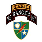 75th Ranger Regiment w/Crest