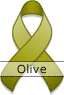 Olive Awareness Ribbon