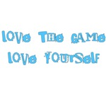 Love the Game Love yourself Mugs Blue