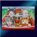 Four Cats Cruzin' in a Convertible