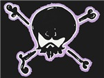 Black & Purple Crossbones