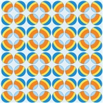 Blue and Orange Polka Dots