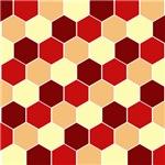 Retro Scales Geometric Print