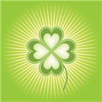 Retro Good Luck 4 Leaf Clover Design