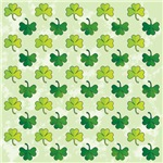 Green Shamrock Pattern Art