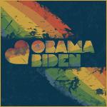 Rainbow Grunge Heart Obama and Biden