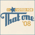Retro Lettering I Voted For That One