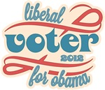 Liberal Voter for Obama 2012 Shirts