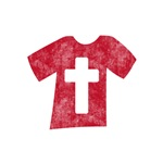 Pretty red christian cross 5 U H