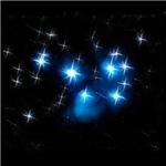 Pleiades Blue Star Cluster