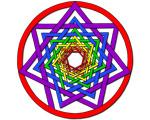19. Interlaced Spiral Heptagram - Color