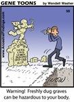 #50 Freshly dug graves
