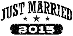 Just Married 2015 t-shirts