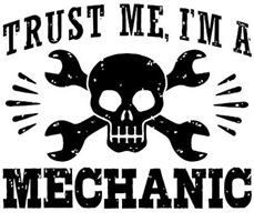 Trust Me I'm A Mechanic t-shirts
