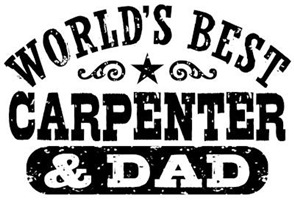 World's Best Carpenter and Dad t-shirts