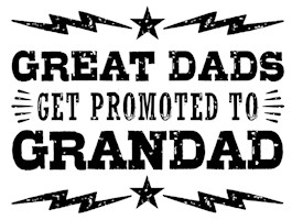 Great Dads Get Promoted To Grandad t-shir