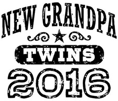 New Grandpa Twins 2016 t-shirt