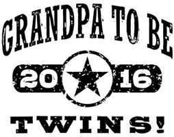 Grandpa To Be Twins 2016 t-shirt