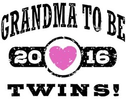 Grandma To Be Twins 2016 t-shirt