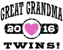 Great Grandma 2016 Twins t-shirt