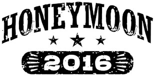 Honeymoon 2016 t-shirts