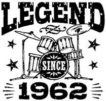Legend Since 1962 t-shirts