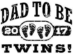 Dad To Be Twins 2017 t-shirts