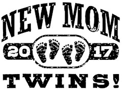 New Mom Twins 2017 t-shirts