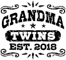 Grandma Twins Est. 2018 t-shirts